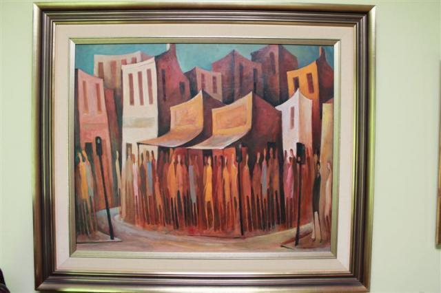 Bill Coleman - Saturday Morning Shopping | Buy Private Art | Private Art Sales