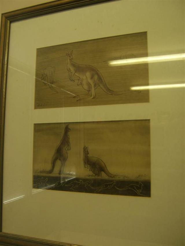 Robert Emerson Curtis - A pair of 2 Roos