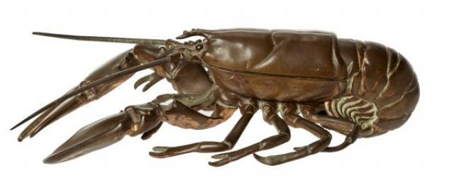 Unknown - Lobster Bronze Inkwell