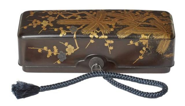 N/A - Japanese Lacquer Fumibako Document Box