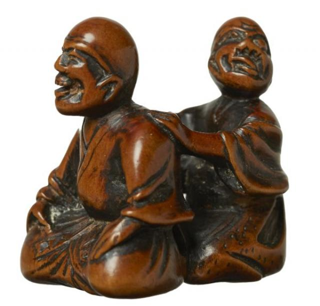 Unsigned - Netsuke - Blind Masseur and client | Buy Private Art | Private Art Sales