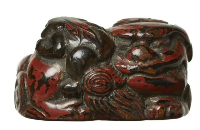 Unsigned - Netsuke - Shi-shi and cub | Buy Private Art | Private Art Sales