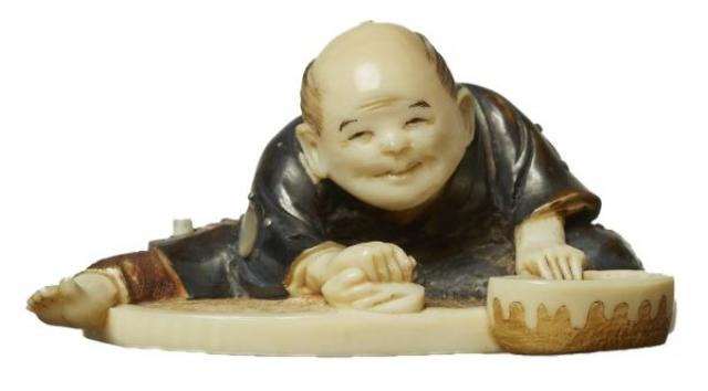 Kokoku - Netsuke - Cleaner | Buy Private Art | Private Art Sales