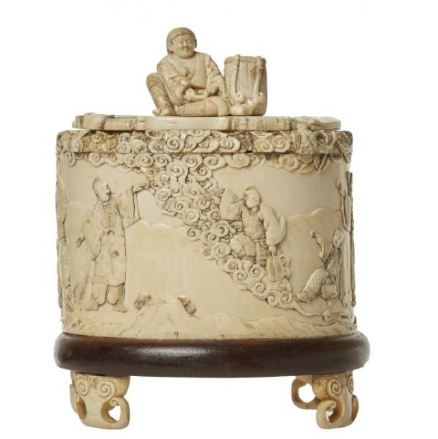 Unknown - Carved Ivory Covered Box
