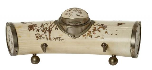 Unknown - White Metal-Mounted Shibayama Style Ivory Inkstand | Buy Private Art | Private Art Sales