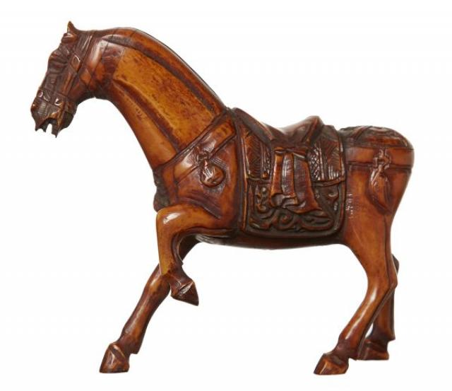 Unknown - Chinese Carved Bone Horse