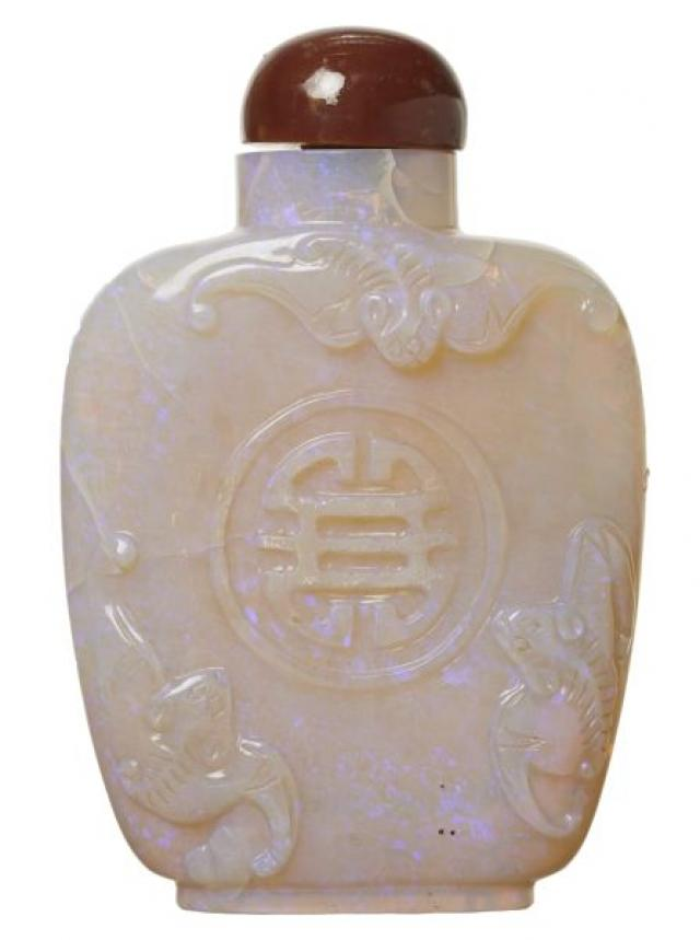 Snuff Bottle - Chinese Opal Snuff Bottle