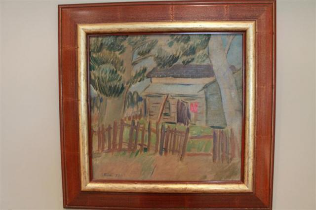 Sam Ateyo - The Red Fence | Buy Private Art | Private Art Sales
