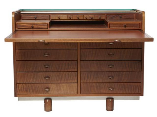 Ganfranco Frattini - Italian 20th Century Roll Top Desk