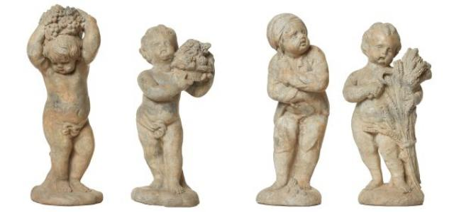Unknown - Four Lead 'Seasons' Putti Statues