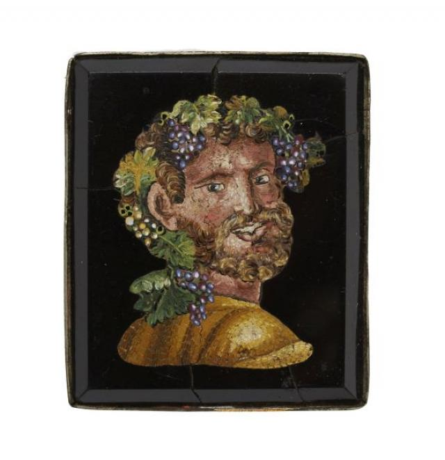 Unknown - Micro Mosaic Panel Depicting Bacchus