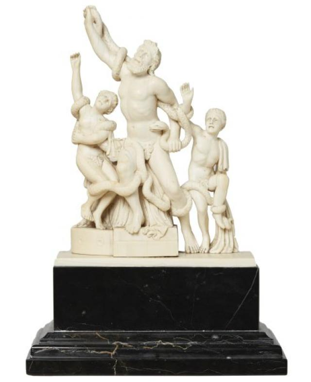 Italian - Ivory Group of Laocoon and his Sons
