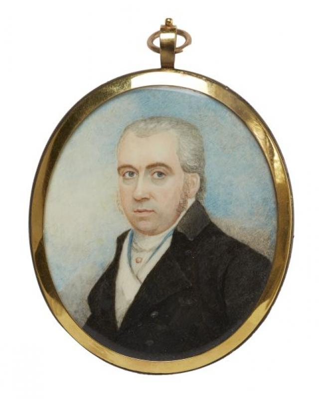 Unknown - English Portrait Miniature of a Gentleman | Buy Private Art | Private Art Sales